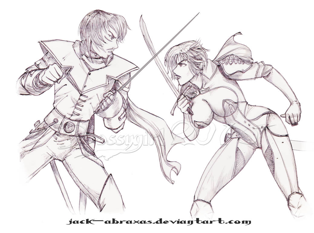 jack-abraxas art trade by BossyGirl