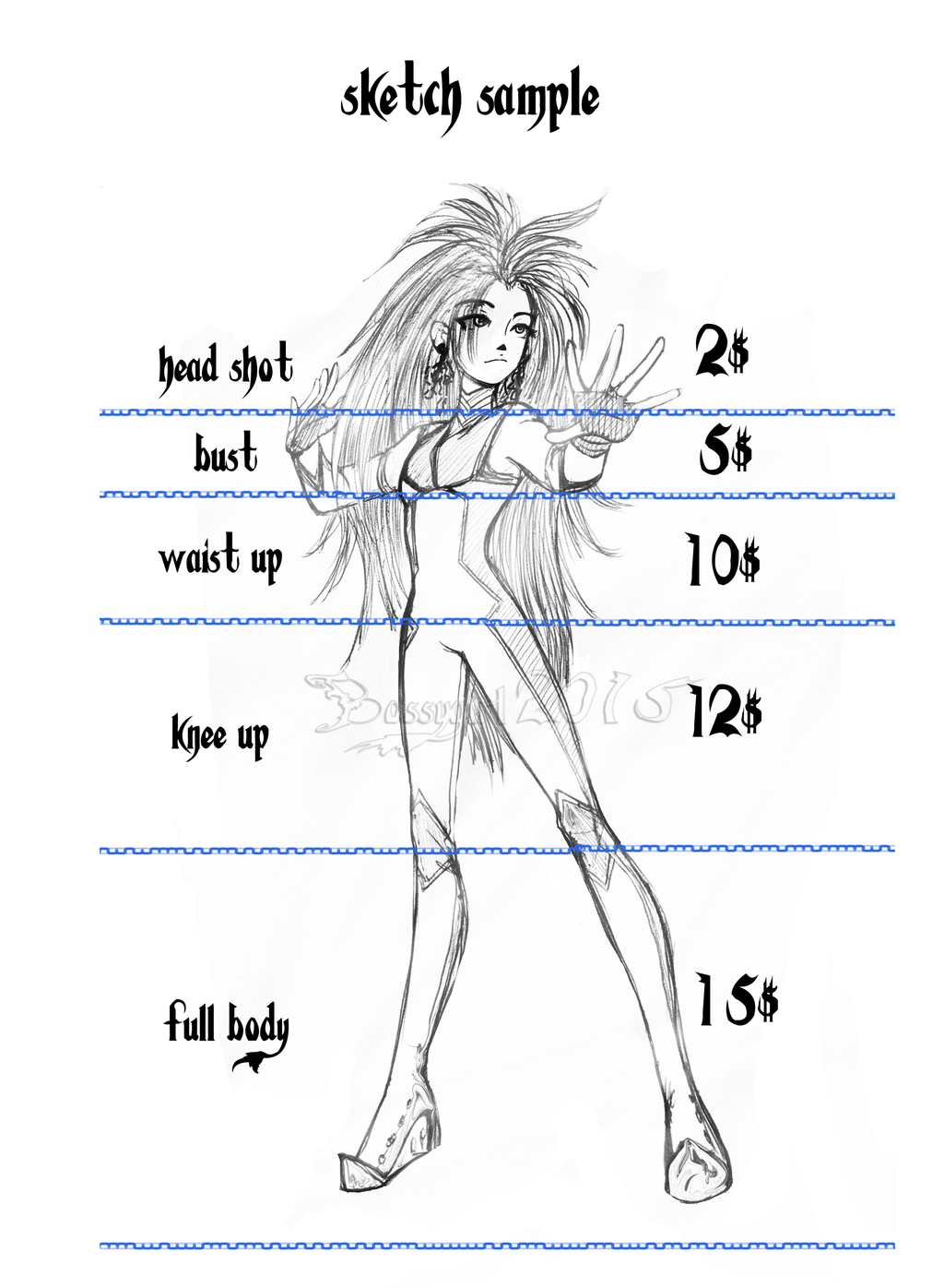 Sketch Price List by BossyGirl