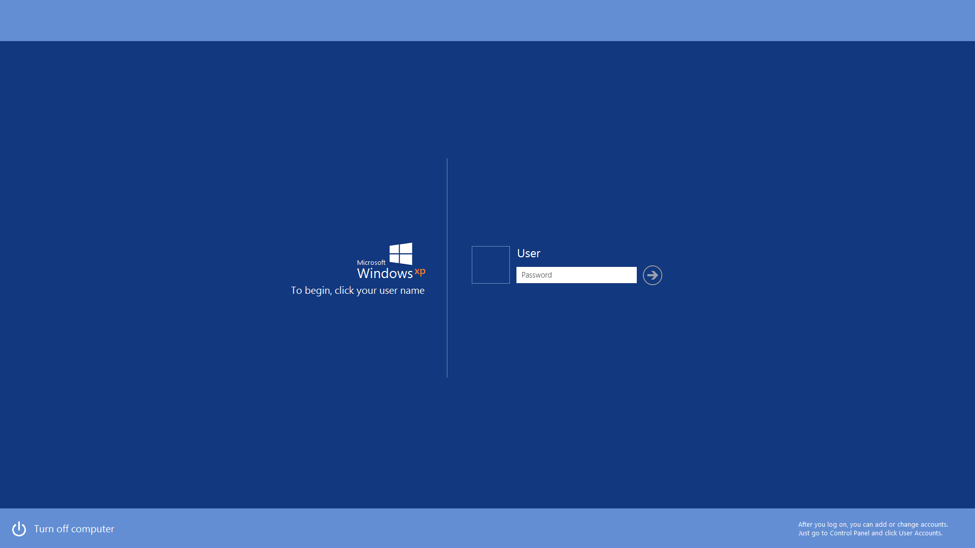 Windows xp metro logon screen concept by gifteddeviant on for Deviantart login