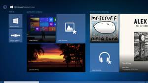 Windows Media Center on Windows 8 (W.I.P Concept) by gifteddeviant