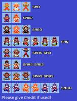 SMM Big Mario Death Sprites by PixelMarioXP