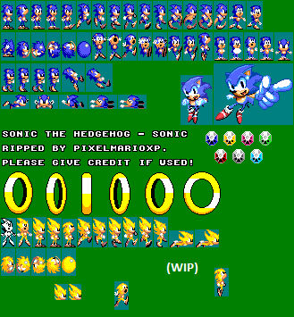 Sonic 1 Game Gear Custom Sprites Unfinished By Pixelmarioxp On