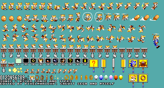 Sonic 2 Master System Tails By Pixelmarioxp On Deviantart