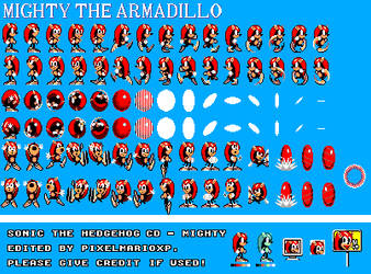 Sonic 1 SMS - Mighty the Armadillo by PixelMarioXP
