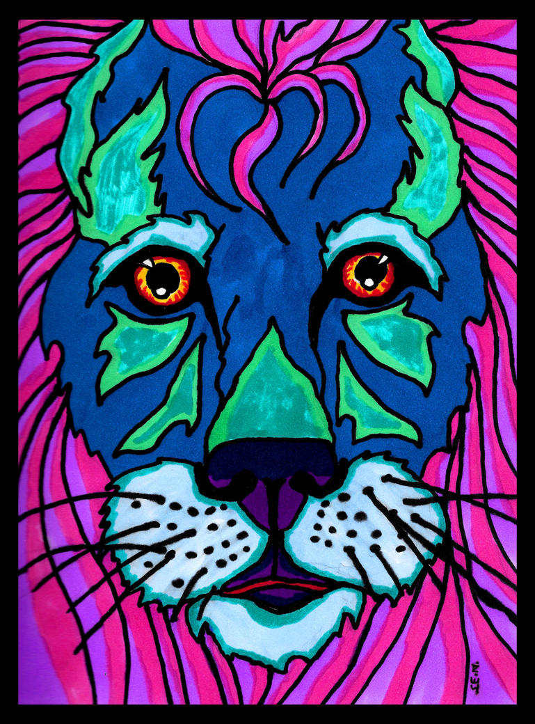 Lion - Stained Glass Style by Shadsie