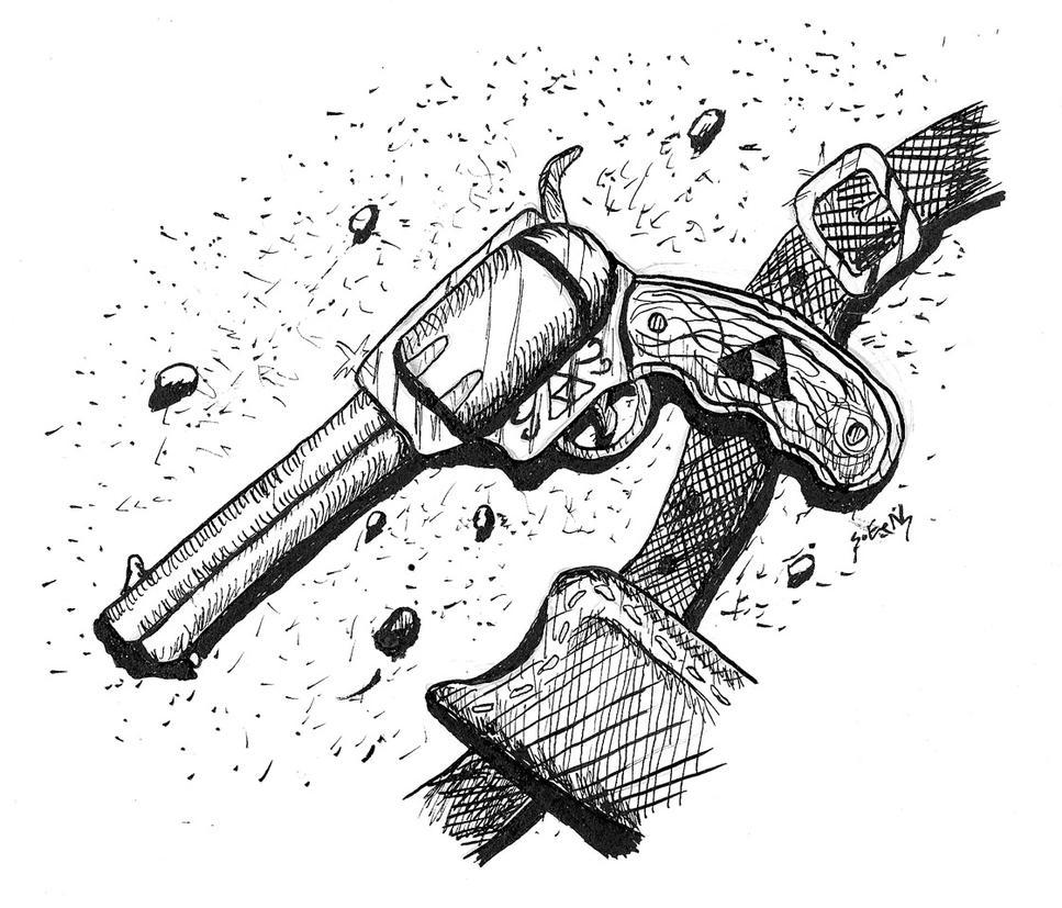 Linktober Quest 5 - Triforce Gun by Shadsie