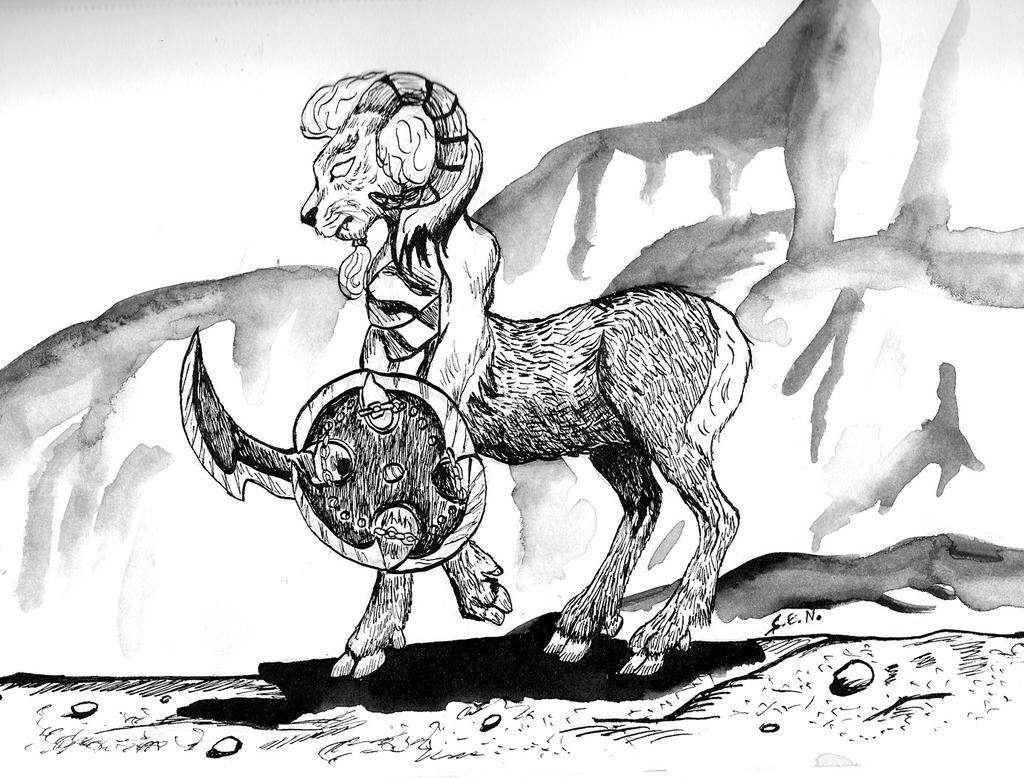 Linktober Quest 16 - Bighorn Ram Lynel by Shadsie