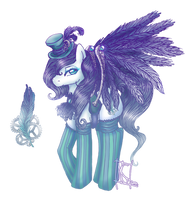 Silver Featherer Pony Adoptable Auction :CLOSED: by MaGeXP