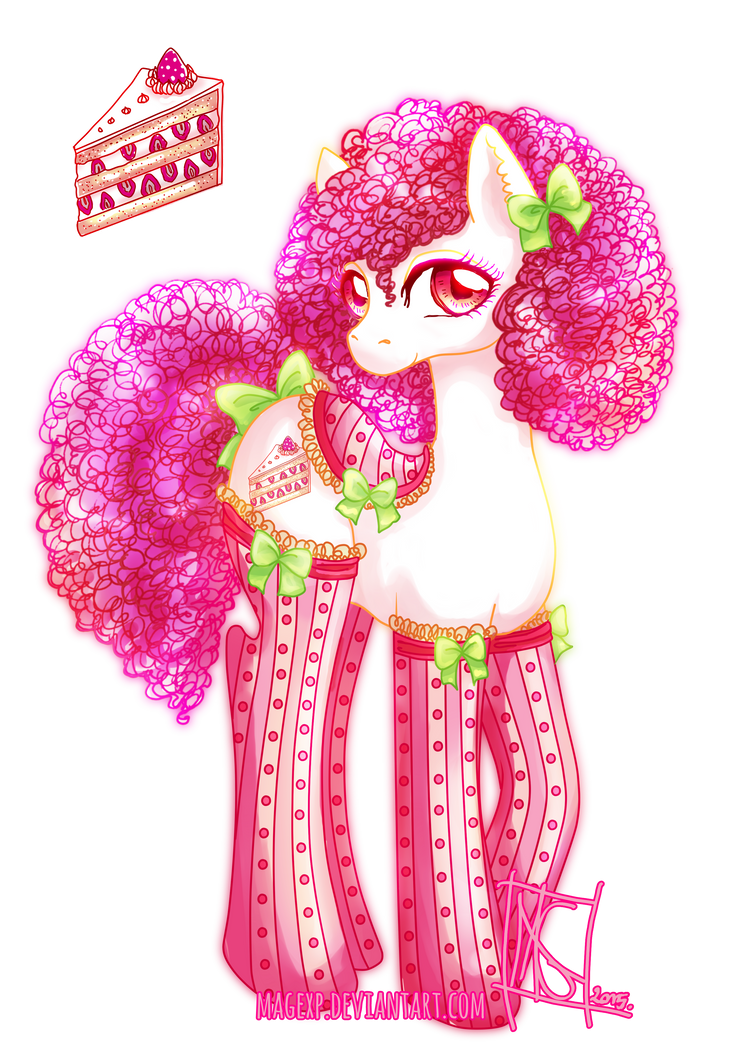 Cute Strawberry Cake Png