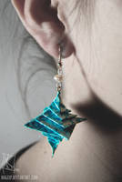 Romantic Teal Earrings :MADE TO ORDER: by MaGeXP