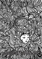 These Persistent Thoughts - colouring page by MaGeXP