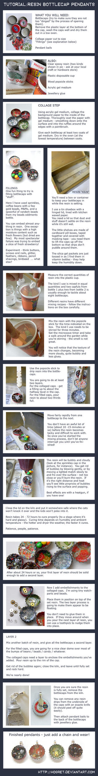 Tutorial: Bottlecap Pendants by hogret