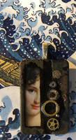 Portrait Steampunk Pendant by hogret