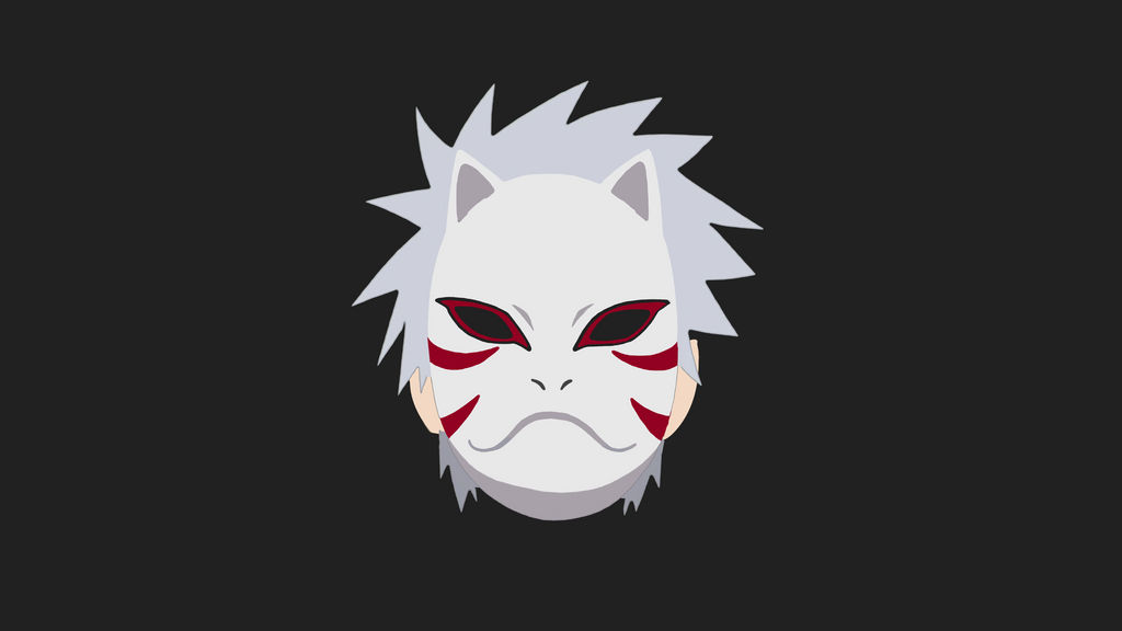 Kakashi Anbu Flat Minimalist Wallpaper By Aldyrmdn On