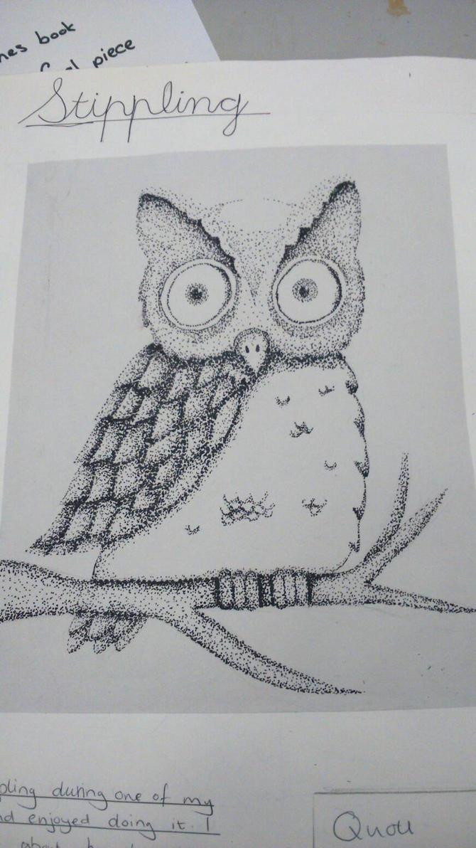Owl~stippling by Kiyoshi11