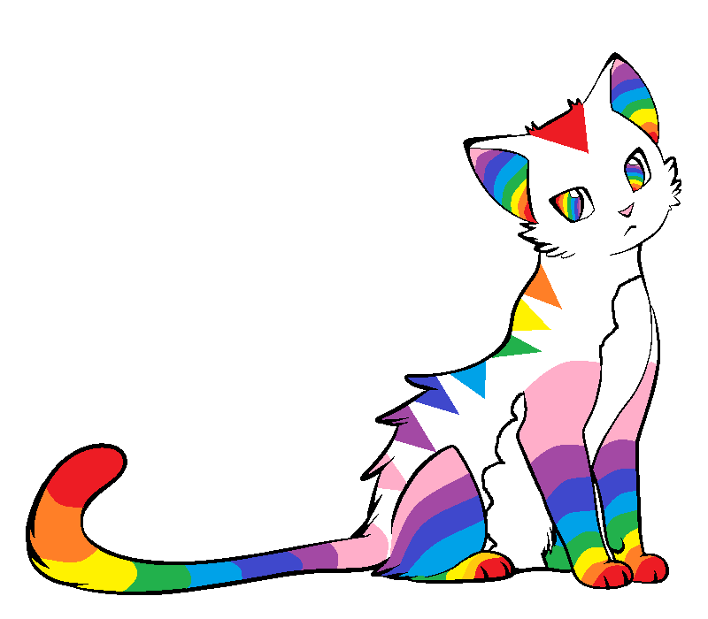 rainbow cat adoptable by w0nd3r l4nd on deviantart