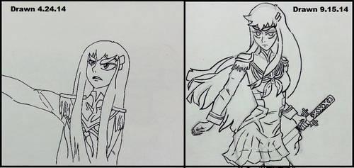 Satsuki Sketch Comparison
