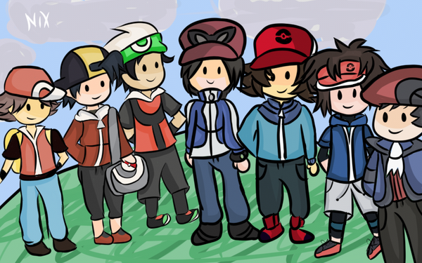 male protagonists pokemon by nyaonix on deviantart