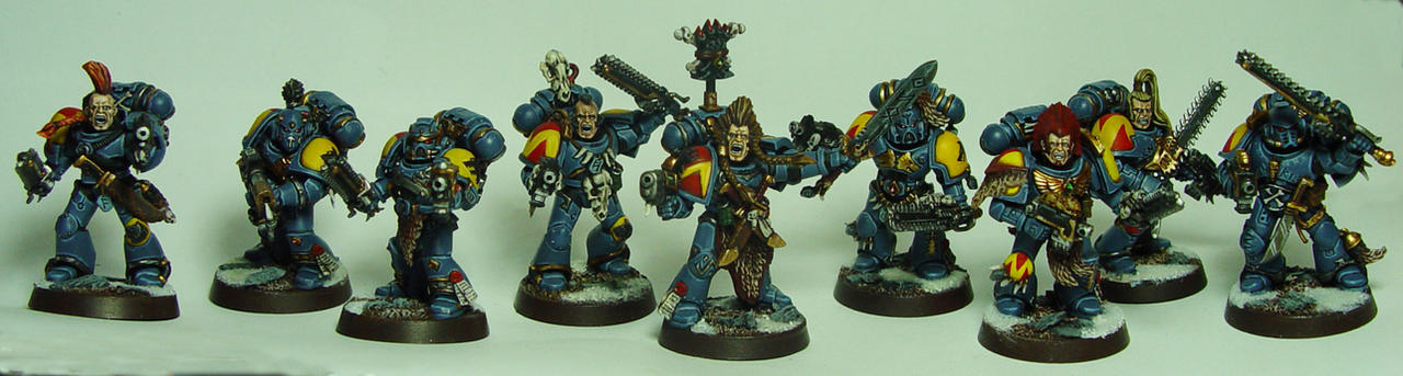Space Wolves Blood Claws by cyphercodicer2