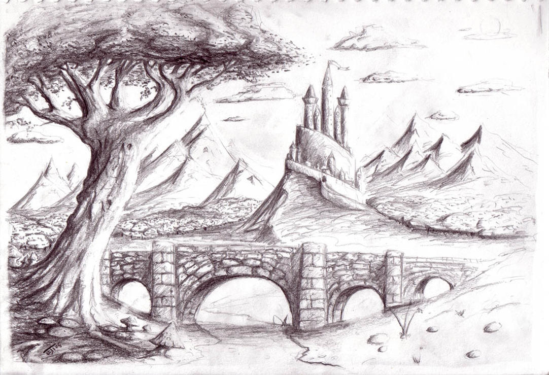 Pencil Sketches Of Nature Scenery Amazing Pencil Art
