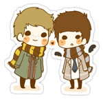 Destiel chibi by Mafebook