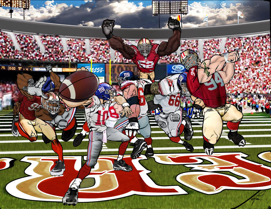 49ers vs giants by munizjohn on deviantart 49ers vs giants by munizjohn voltagebd Choice Image