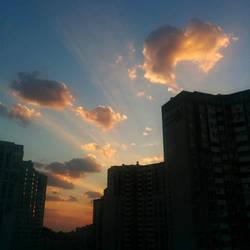 Sunrise in Kyiv by NataliGagarina
