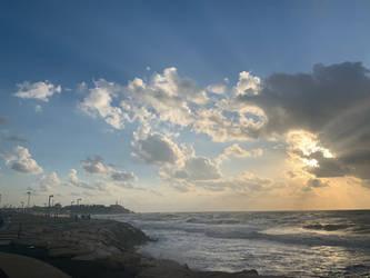 Tel-Aviv Skies by NataliGagarina