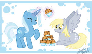Trixie and Derpy