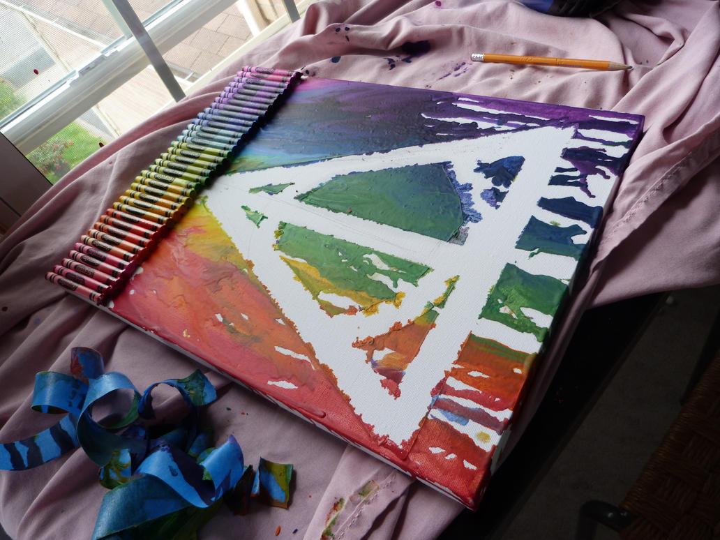 Deathly Hallows Crayon Art by perkinsi