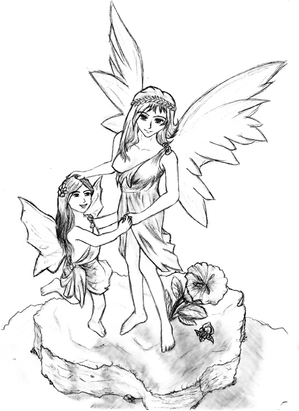 Some Fairies statue drawing by Lan-Nhi on DeviantArt