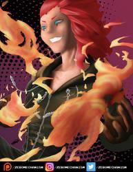 Axel - Kingdom Hearts 2 by Zer0Mechan1sm