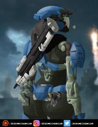 (Commission) Kat V2 - Halo Reach by Zer0Mechan1sm