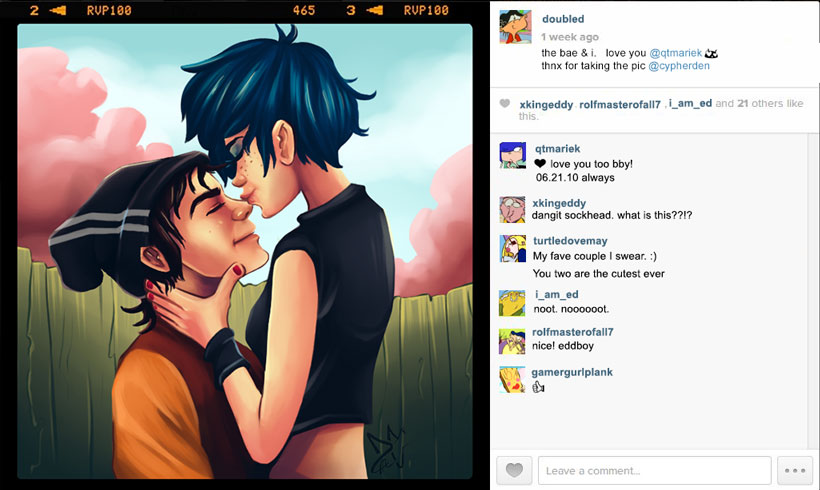 Double D and Marie goes on Instagram by CypherDen