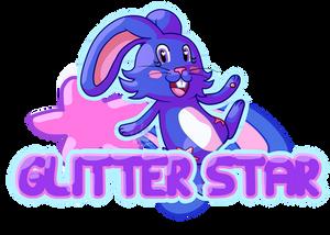 Glitter Star Con Badge [New fursona] by Gerona-Queen