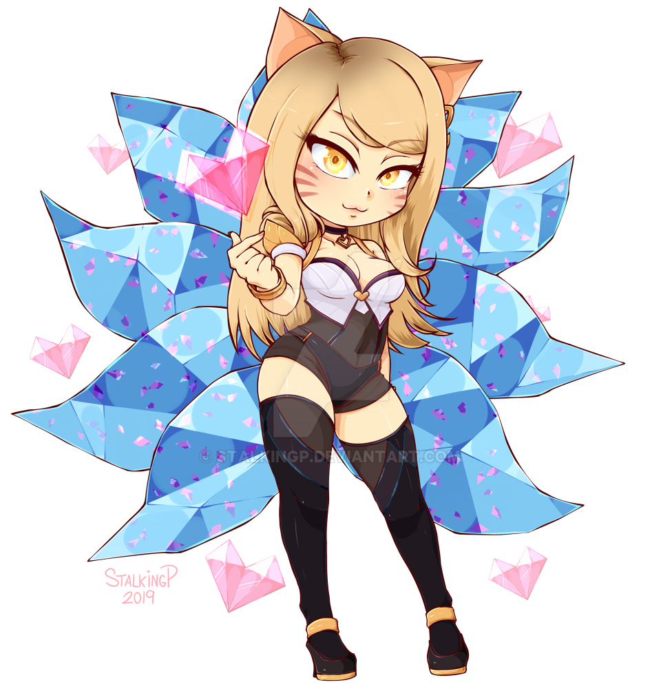Belly Rumble Furry: [Commission] Chibi Ahri (K/DA Ver.) By StalkingP On DeviantArt