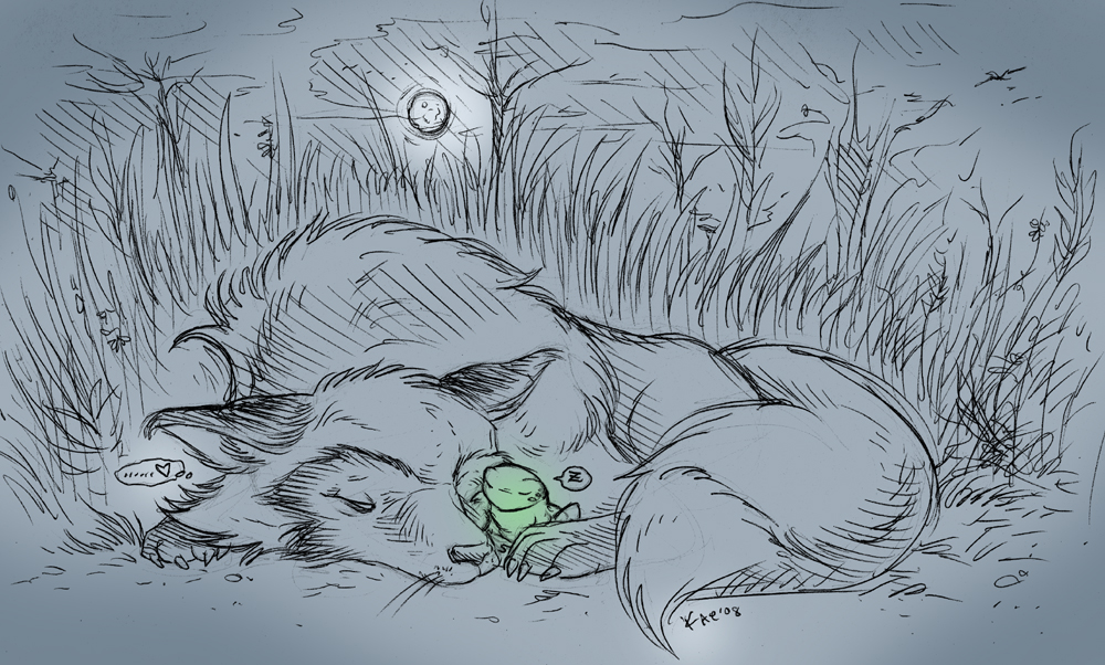 You Sleep, I Protect by KaeMantis
