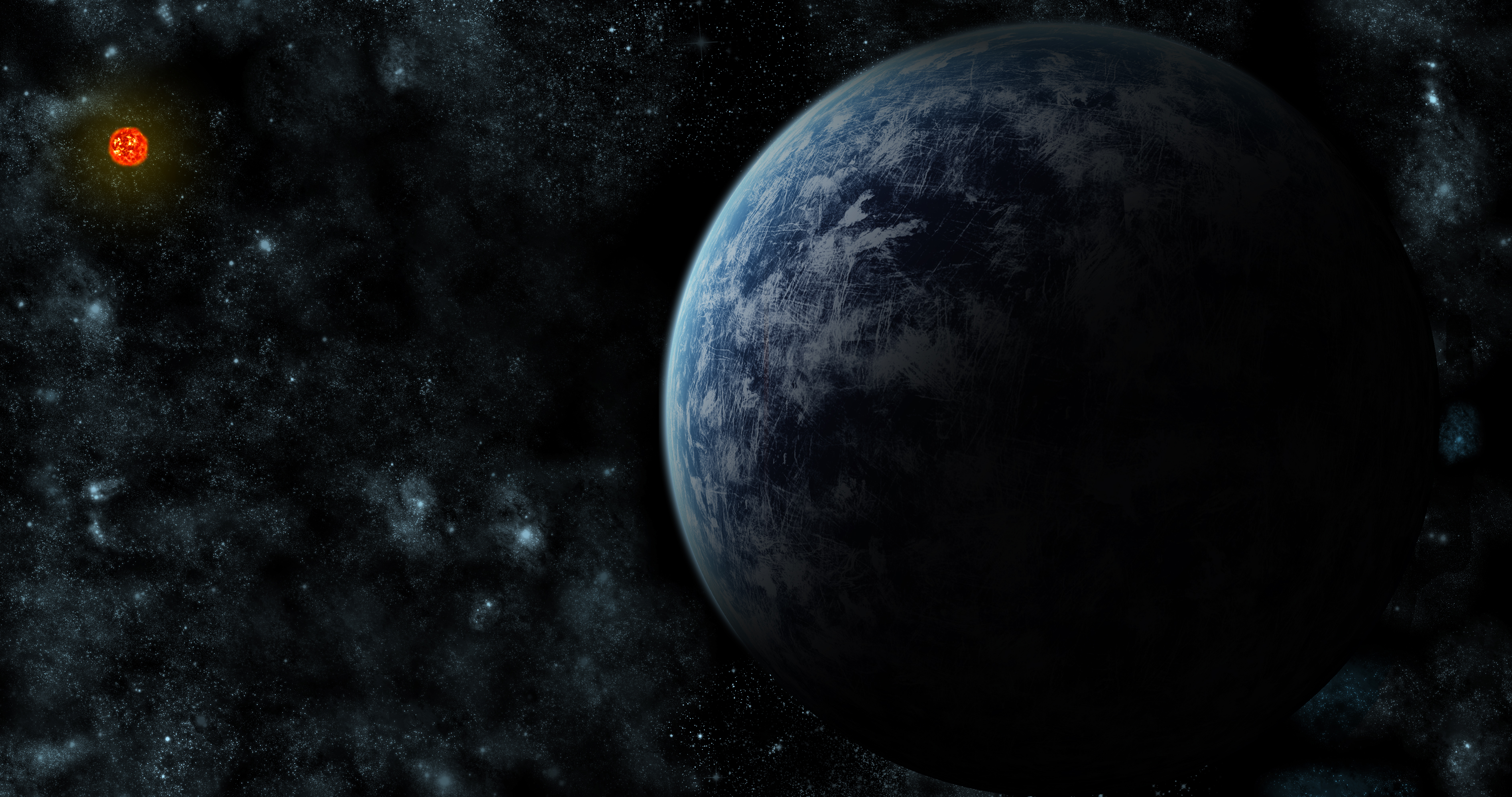 Approaching Gliese 581 D by Chrillen on deviantART