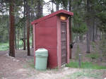 THE OUTHOUSE AT OUR CABIN
