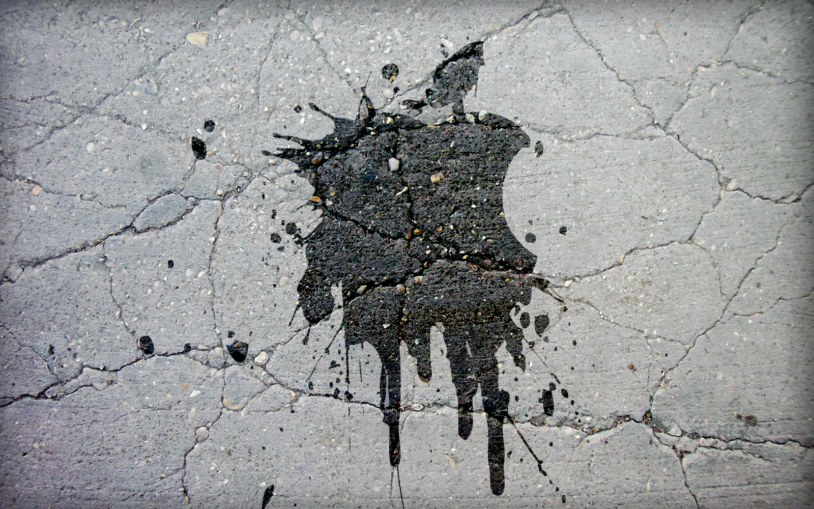 Splashed Apple