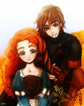 Merida and Hiccup ( request )