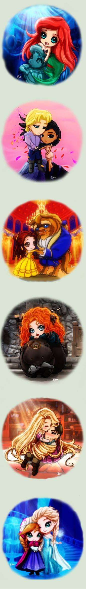 Disney Chibi by Esther-Shen