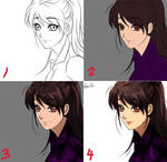 Anime coloring tutorial