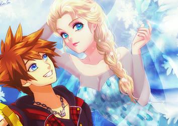 Elsa and Sora