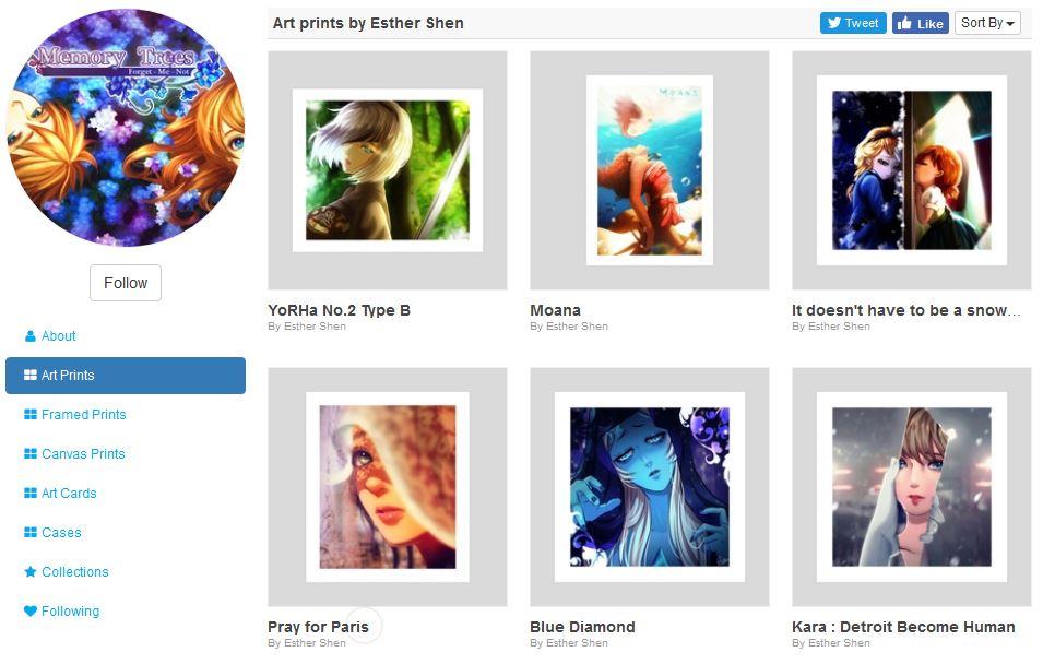 b01cb7f8af My Inprnt shop by Esther-Shen on DeviantArt