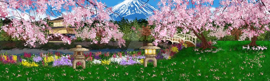 Japanese Sakura Garden By Aetheriel On Deviantart