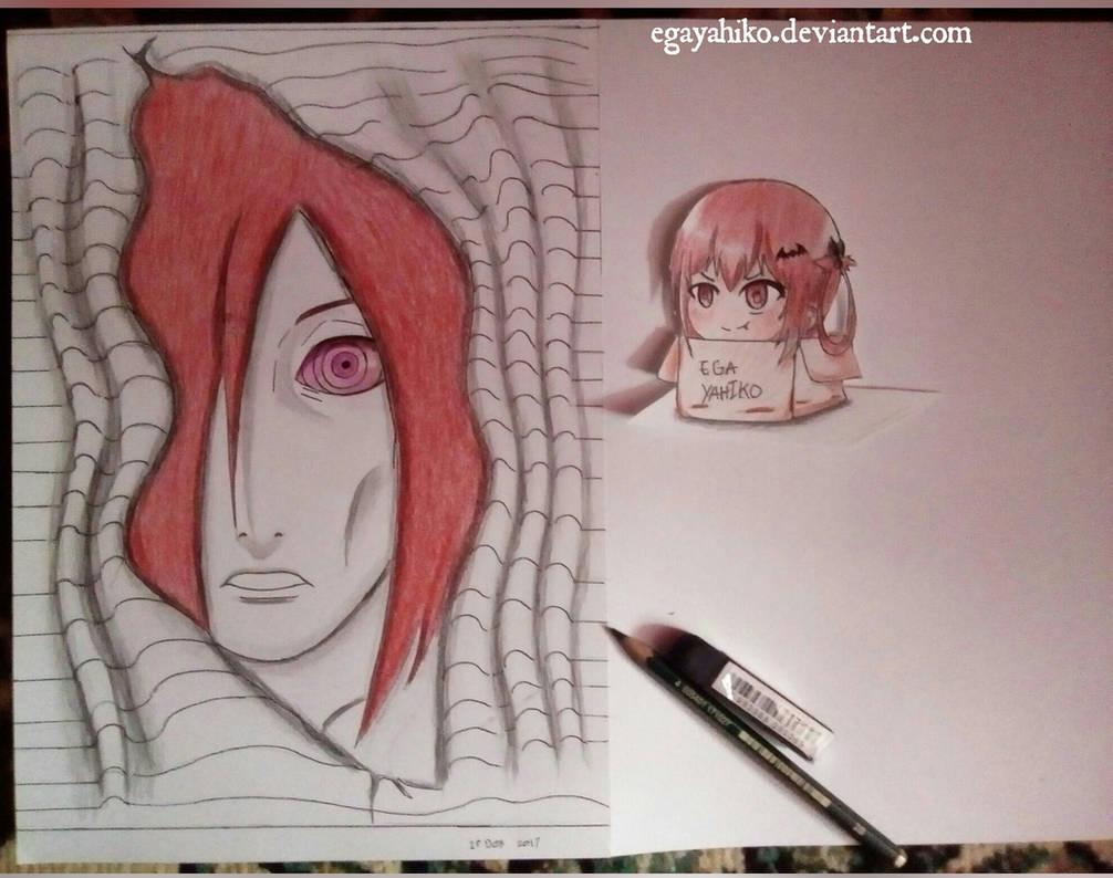 Nagato paper 3d art pensil by egayahiko
