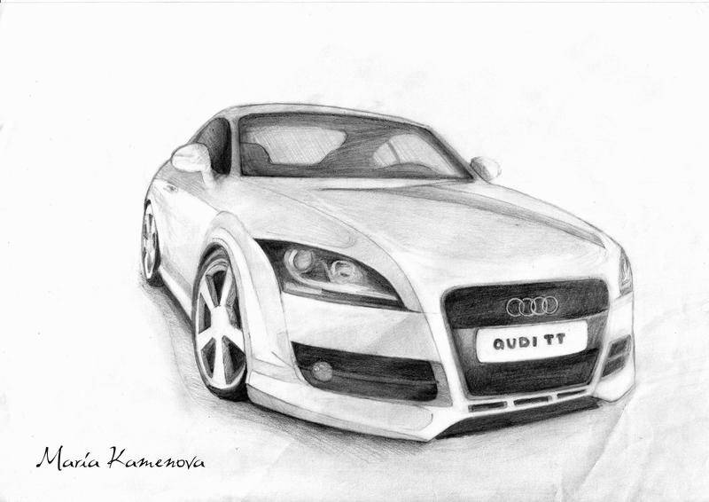Audi TT - drawing version by mobs-y on DeviantArt