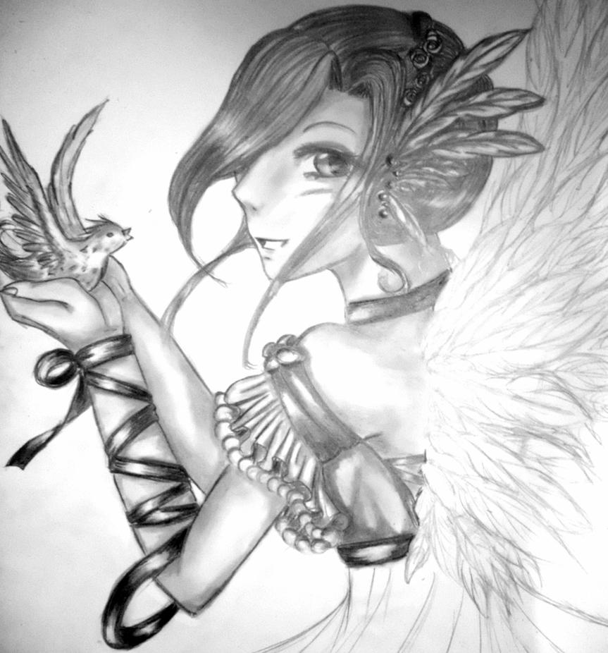 Angel of Freedom WIP by KaisiShu