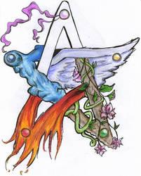 Pentacle Elements by Gwynhwyver